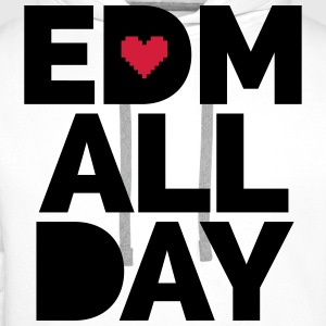 EDM ALL Day T-skjorter - Premium hettegenser for menn