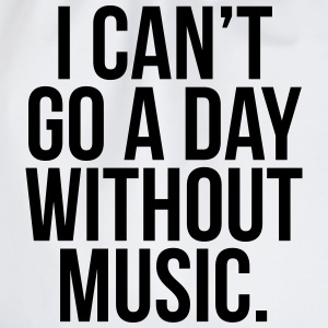 A Day Without Music  Camisetas - Mochila saco
