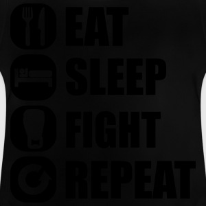 eat_sleep_fight_repeat_13_1f Gensere - Baby-T-skjorte