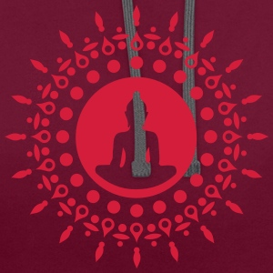 Buddha meditation, yoga, Buddhism, enlightenment T-Shirts - Contrast Colour Hoodie