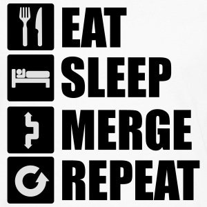Eat sleep merge repeat Tee shirts - T-shirt manches longues Premium Homme