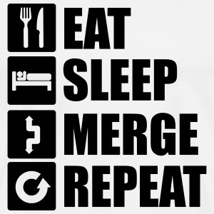 Eat sleep merge repeat 1f Tops - Men's Premium T-Shirt