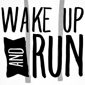 Wake Up And Run Tops - Men's Premium Hoodie