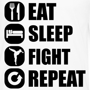 eat_sleep_fight_repeat_4_1f Sudaderas - Camiseta de manga larga premium hombre