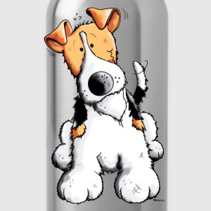 Funny Fox Terrier Long sleeve shirts - Water Bottle
