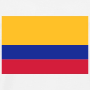 National Flag of Colombia Topper - Premium T-skjorte for menn