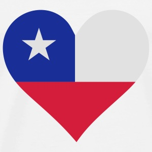 A heart for Chile Tops - Men's Premium T-Shirt
