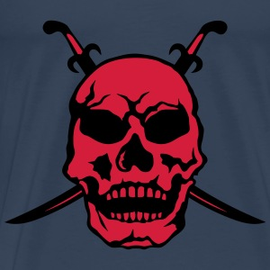 Death head skull pirate sword Tops - Men's Premium T-Shirt