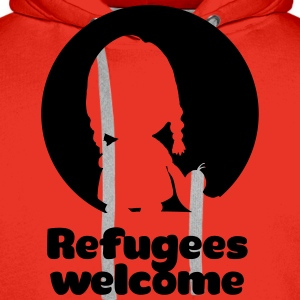Refugees welcome red Shirt - Männer Premium Hoodie