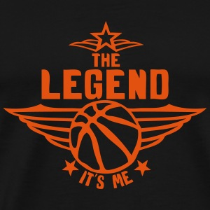 basketball legend its me quote logo Hoodies & Sweatshirts - Men's Premium T-Shirt