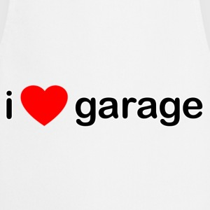 White I Love Garage DJ Men's T-Shirts - Cooking Apron