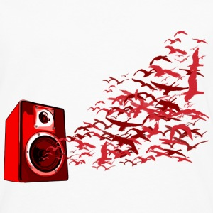 White Speaker Birds DJ Women's T-Shirts - Men's Premium Longsleeve Shirt