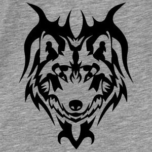 tribal tattoo wolf wildes tier Pullover & Hoodies - Männer Premium T-Shirt