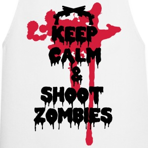Keep calm and shoot zombies - Tablier de cuisine