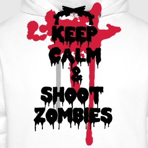 Keep calm and shoot zombies - Felpa con cappuccio premium da uomo