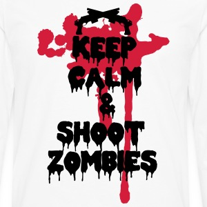 Keep calm and shoot zombies - T-shirt manches longues Premium Homme