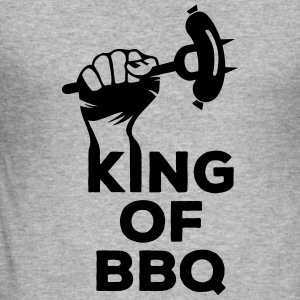 King of BBQ Grill grillen Grillmeister Wurst Sweatshirts - Herre Slim Fit T-Shirt