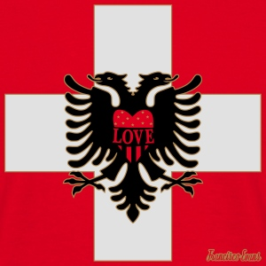 Schweiz Albanien LOVE, Francisco Evans ™ Mugs & Drinkware - Men's T-Shirt