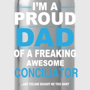 dad CONCILIATOR daughter T-Shirts - Water Bottle
