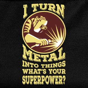 I Turn Metal Into Things. What's Your superpower? - Kids' Backpack