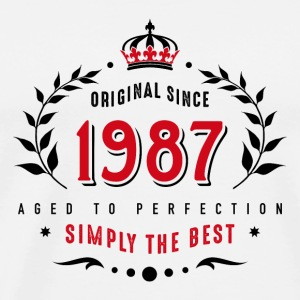 original since 1987 simply the best 30th birthday - Männer Premium T-Shirt