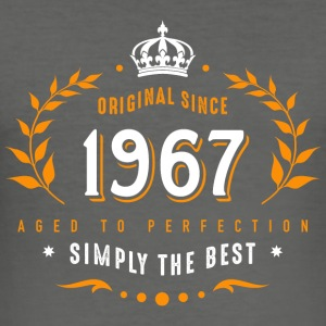 original since 1967 simply the best 50th birthday - Männer Slim Fit T-Shirt