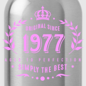 original since 1977 simply the best 40th birthday - Trinkflasche