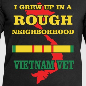 I grew up in a rough neighborhood. Vietnam Vet - Men's Sweatshirt by Stanley & Stella