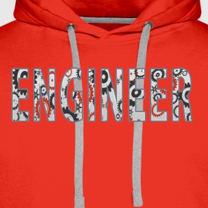 Engineer (Internal cogs) T-Shirts - Men's Premium Hoodie