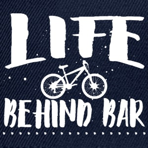 Life behind bar/bicycle Hoodies & Sweatshirts - Snapback Cap
