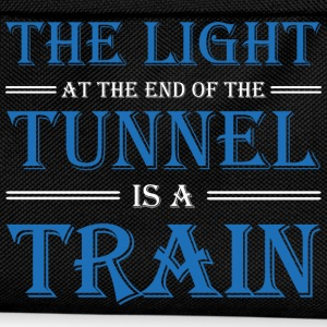 The light at the end of the tunnel is a train T-shirts - Rugzak voor kinderen