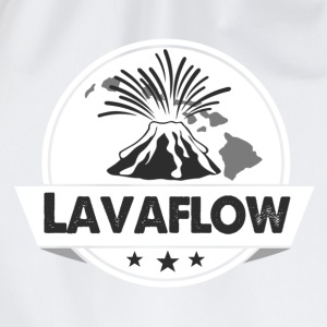 Hawaii-T-Shirt Lavaflow - Vulkan - Turnbeutel