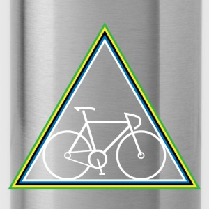 Hipster Fixie - Triangle - Water Bottle