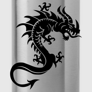 Rot Drache, Dragon, Tribal Kinder Pullover - Trinkflasche