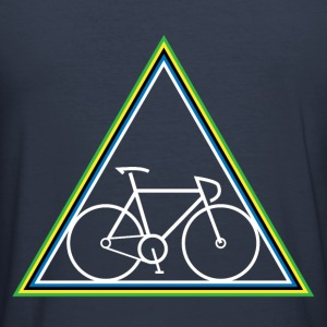 Fixie in Rainbow Triangle - Men's Slim Fit T-Shirt