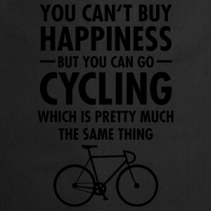You Can't Buy Happiness - But You Can Go Cycling.. T-Shirts - Kochschürze