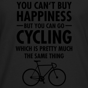 You Can't Buy Happiness - But You Can Go Cycling.. T-Shirts - Männer Premium Langarmshirt