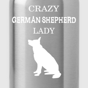Crazy German Shepherd lady - Water Bottle