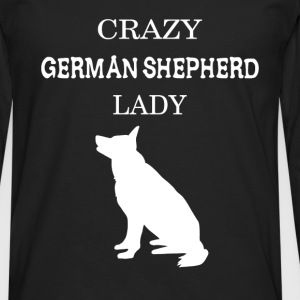 Crazy German Shepherd lady - Men's Premium Longsleeve Shirt
