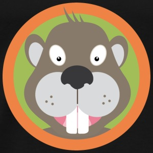 Sweet Beaver hoofd met Orange County Tops - Mannen Premium T-shirt