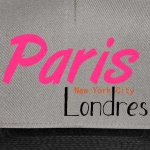 tee shirt femme Paris/NYC/London - Casquette snapback