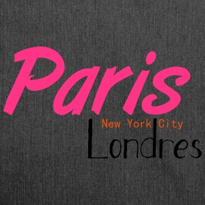 tee shirt femme Paris/NYC/London - Sac bandoulière 100 % recyclé