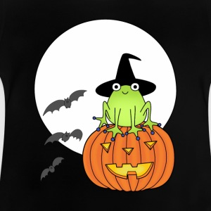 Witch frog on pumpkin t-shirt for teens - Baby T-Shirt