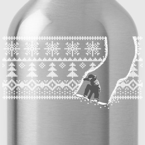 Snowboard pattern - Water Bottle
