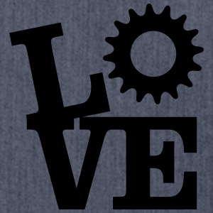 Love Bicycles T-shirts - Skuldertaske af recycling-material