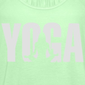 Yoga Meditation Girl Frau Silhouette T-Shirts - Frauen Tank Top von Bella