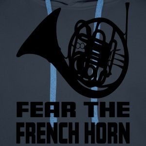 FEAR THE FRENCH HORN T-shirts - Herre Premium hættetrøje