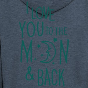 I LOVE YOU TO THE MOON & BACK Hoodies & Sweatshirts - Men's Premium Hooded Jacket