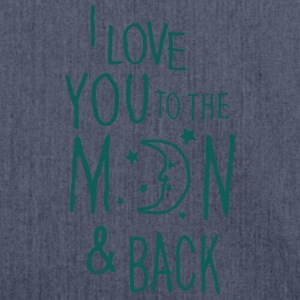Jeansblau I LOVE YOU TO THE MOON & BACK Pullover & Hoodies - Schultertasche aus Recycling-Material