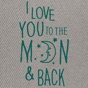 Blau meliert I LOVE YOU TO THE MOON & BACK T-Shirts - Snapback Cap